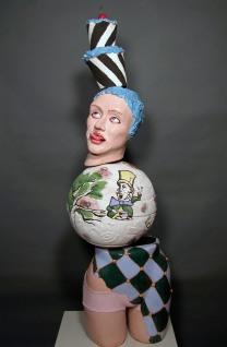 """Stimulatorium, 2008 (53""""h x 16""""w x 16""""d) Ceramic, mixed media"""