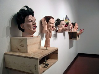 Contemporary Figurative Sculpture Installation Art Lee Puffer