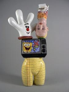 """Homeworkburger Helper, 2007 (53""""h x 26""""w x 20""""d) Ceramic"""