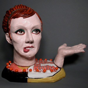 """The Price is Right,  (16""""h x 18""""w x 14""""d) Ceramic"""