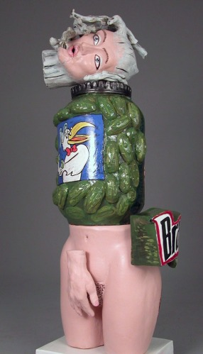 "Visit the Pickle Jar, 2007 (56""h x 20""w x 20""d) Ceramic"