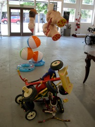 Installation view. Ceramic and mixed media. 2011