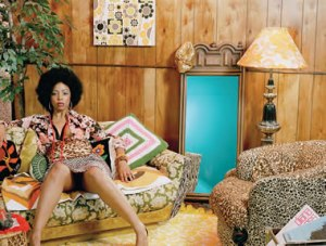 "Mickalene Thomas, Lovely Six Foota, 2007, C-print, 56.31"" x 67.38"" COURTESY OF THE ARTIST AND LEHMANN MAUPIN GALLERY, NY"