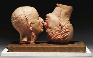 Bruce Nauman. Two Wax Heads, 1990.