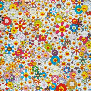Takashi Murakami panel. Courtesy of Gagosian Gallery, NY.