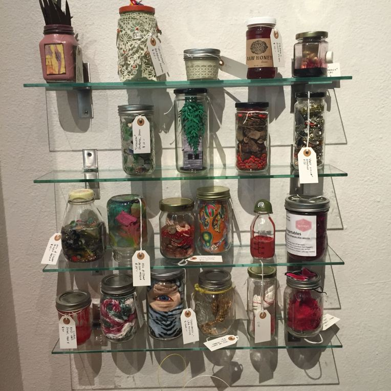 Installation view, Jars Exhibition. Art Produce Gallery. Jan/Feb 2015