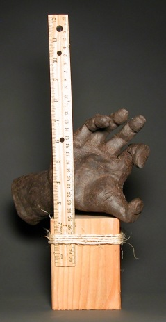 How We Measure Things:Length, by Lee Puffer. Ceramic and found object.