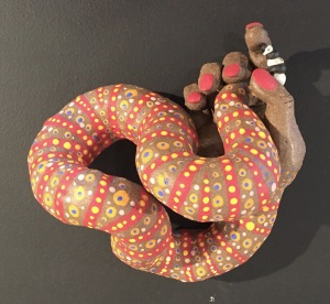 image of snake/hand sculpture by Lee Puffer
