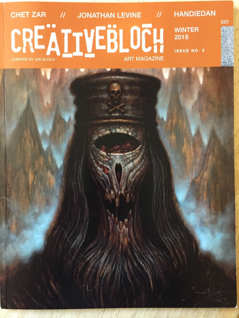 Lee Puffer contemporary artist featured in Creative Bloch art magazine