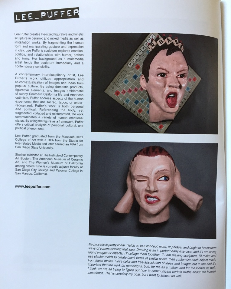 Lee Puffer, contemporary artist, featured in independent art magazine Creative Bloch